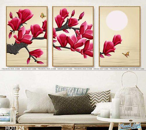 tranh canvas hoa 1124