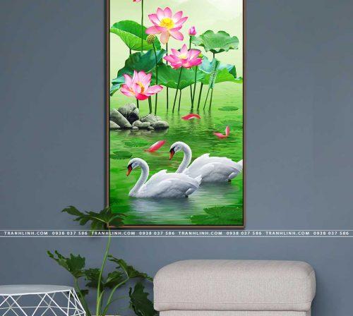 tranh canvas hoa 1160