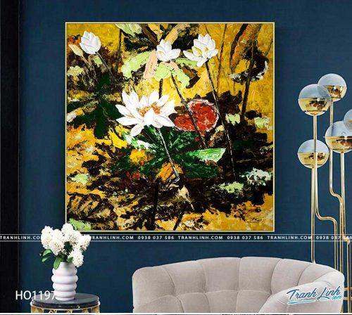 tranh canvas hoa 1197