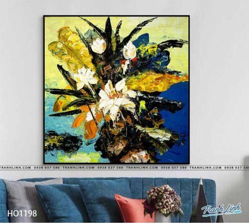 tranh canvas hoa 1198