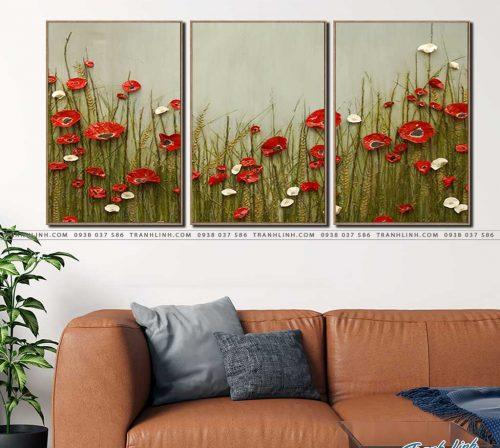 tranh canvas hoa 1234