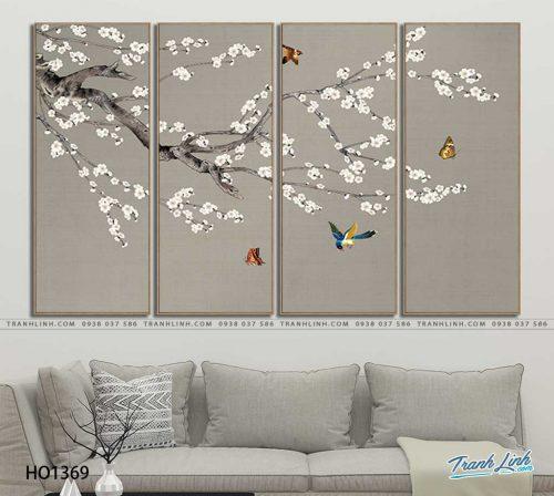 tranh canvas hoa 1369