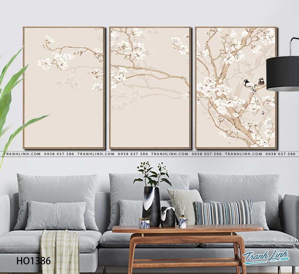 tranh canvas hoa 1386