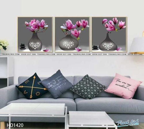 tranh canvas hoa 1420