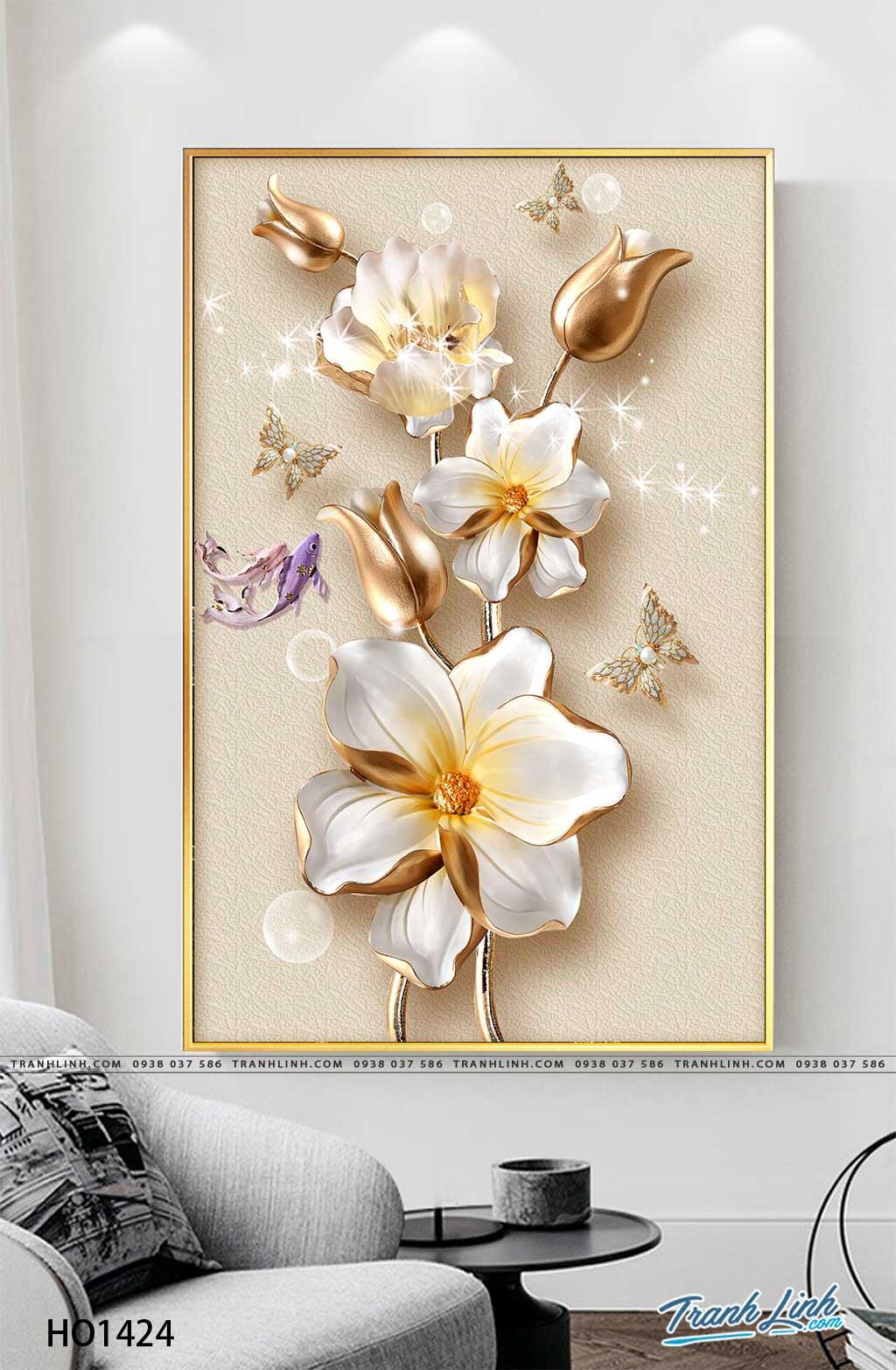 tranh canvas hoa 1424