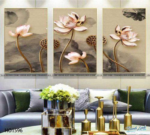 tranh canvas hoa 1596