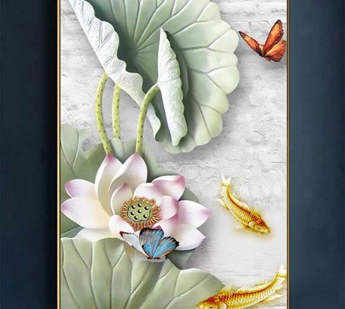 tranh canvas hoa 1642