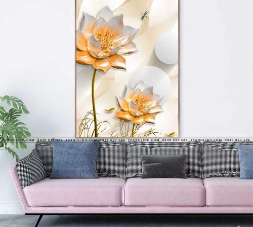tranh canvas hoa 1673