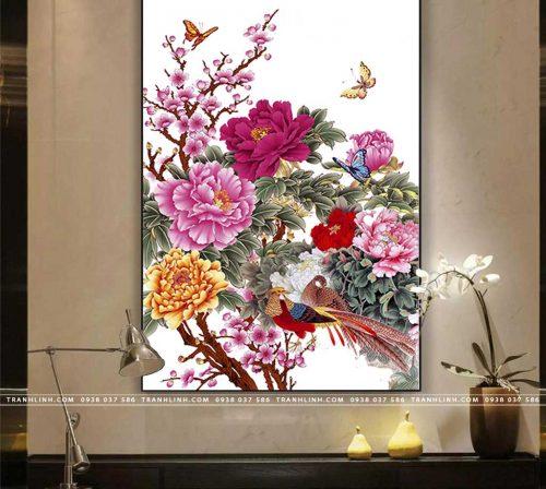 tranh canvas hoa 1678
