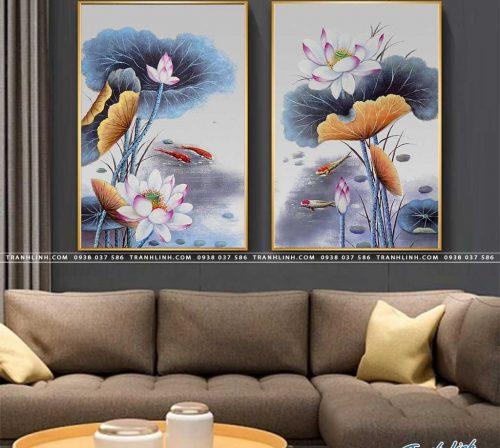 tranh canvas hoa 1682