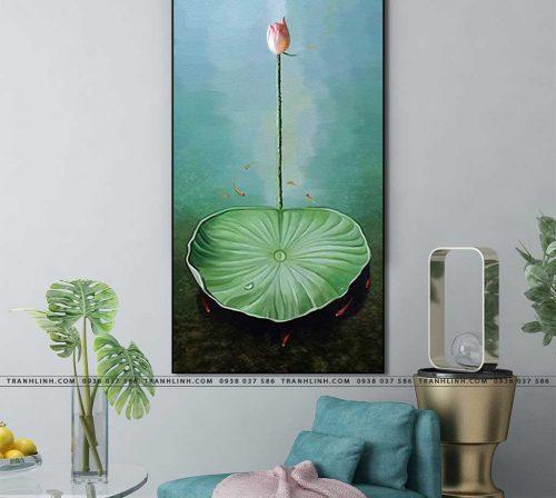 tranh canvas hoa 1691