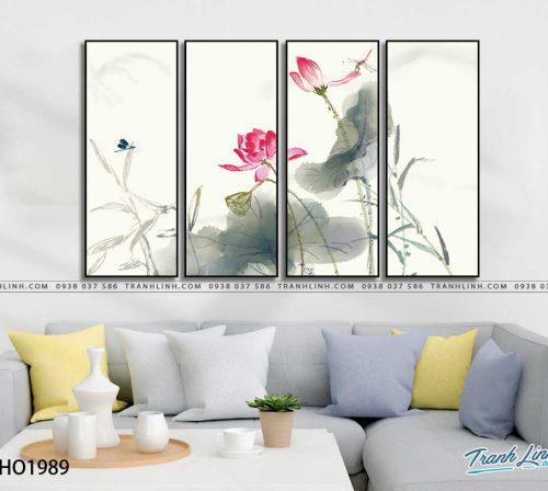 tranh canvas hoa 1989