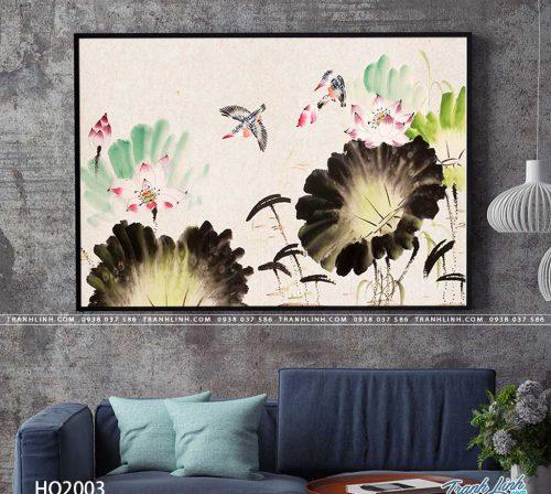 tranh canvas hoa 2003