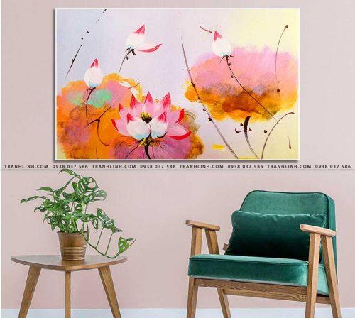 tranh canvas hoa 2004