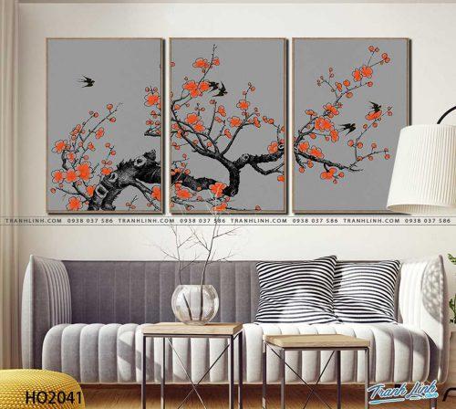 tranh canvas hoa 2041