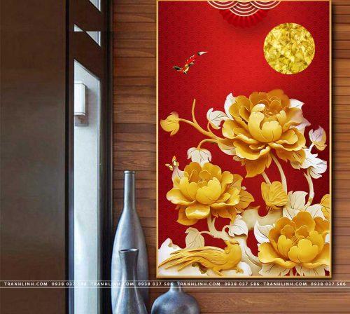 tranh canvas hoa 2046
