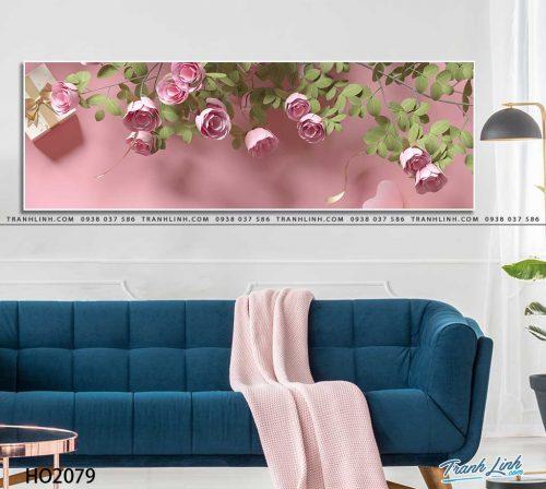 tranh canvas hoa 2079