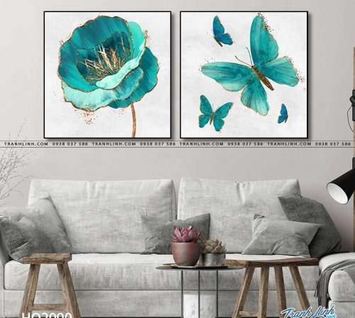 tranh canvas hoa 2090