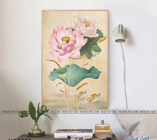 tranh canvas hoa 2098