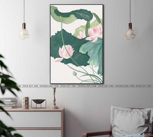 tranh canvas hoa 2107