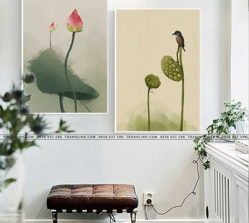 tranh canvas hoa 2112