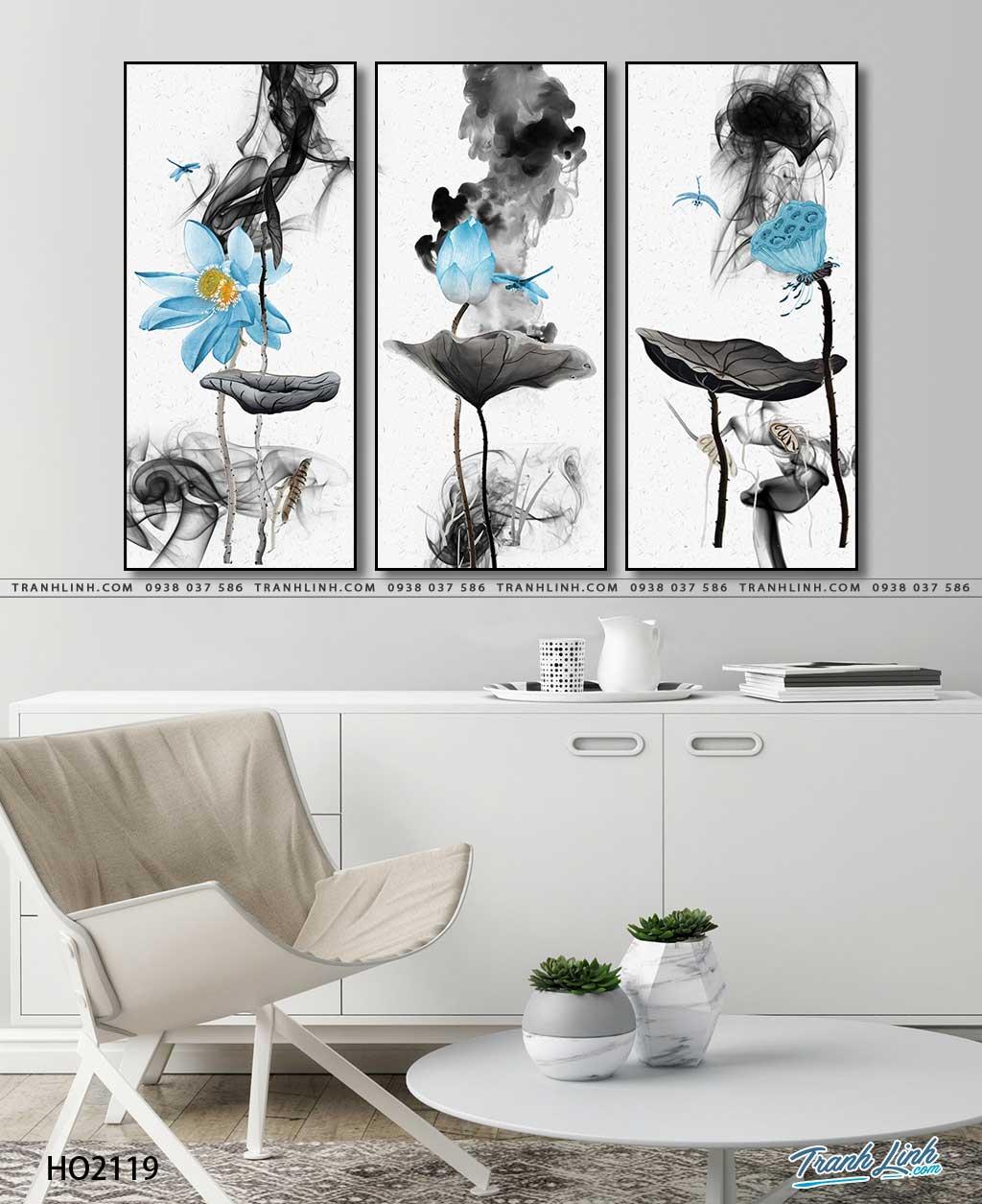 tranh canvas hoa 2119