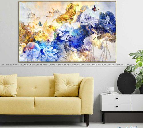tranh canvas hoa 2140