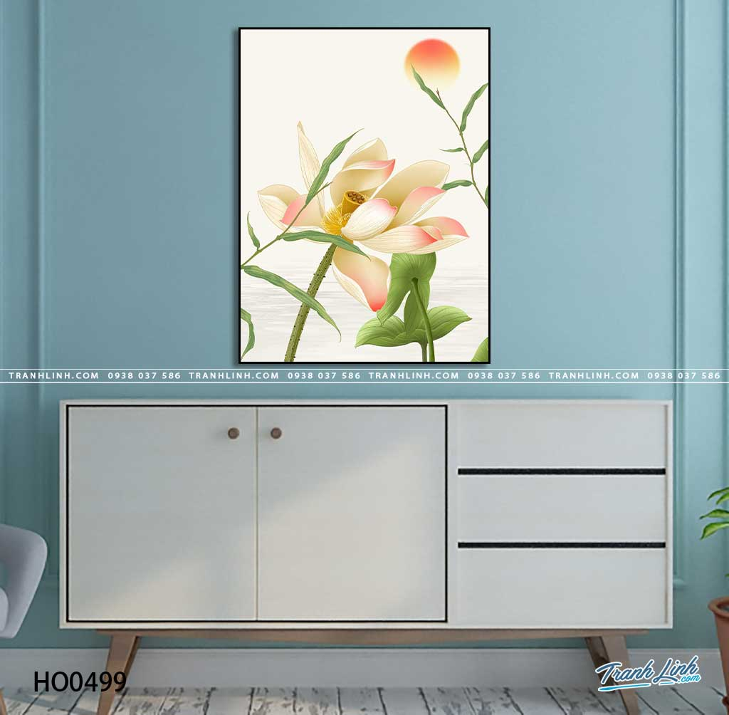 tranh canvas hoa 499