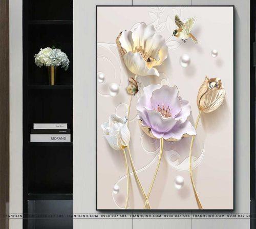 tranh canvas hoa 550
