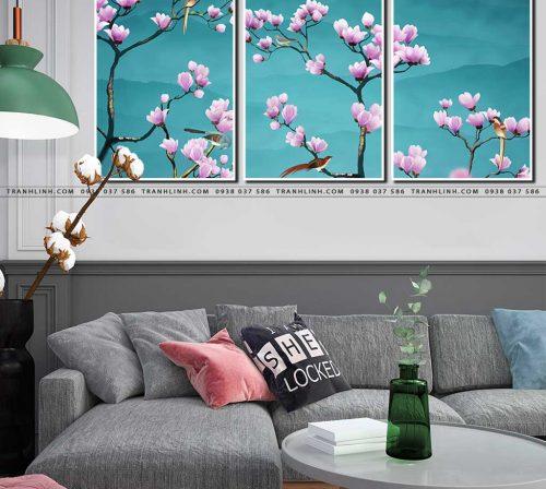 tranh canvas hoa 563