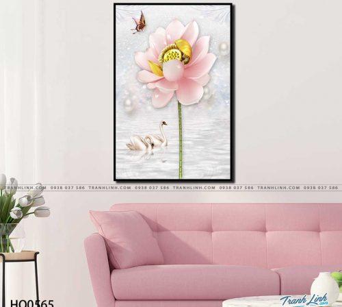 tranh canvas hoa 565