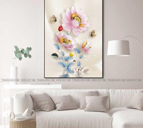 tranh canvas hoa 569