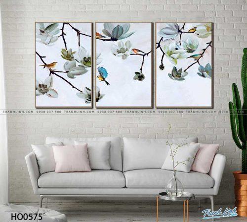 tranh canvas hoa 575