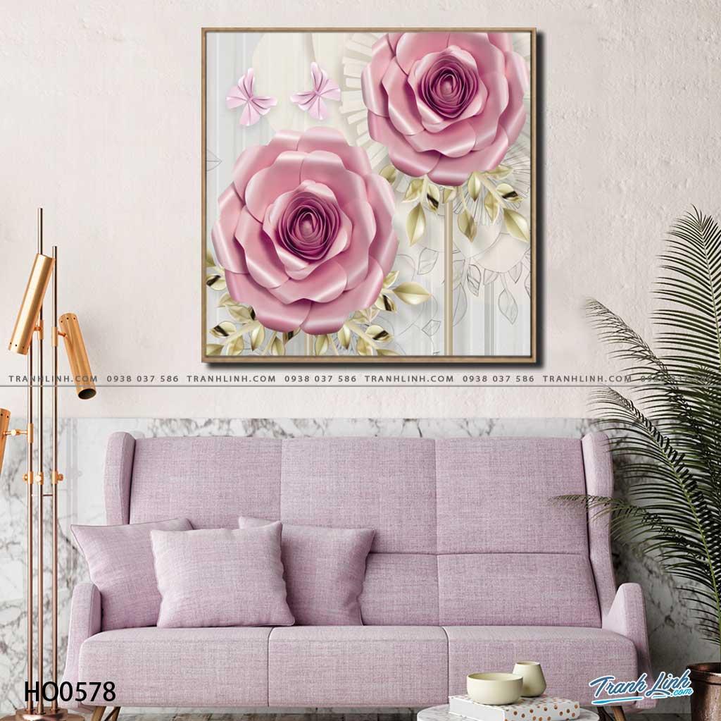 tranh canvas hoa 578