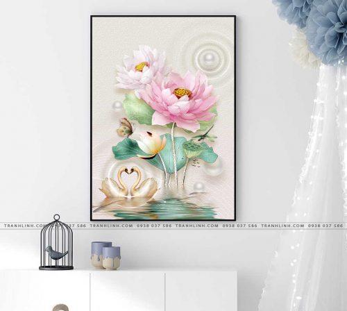 tranh canvas hoa 579