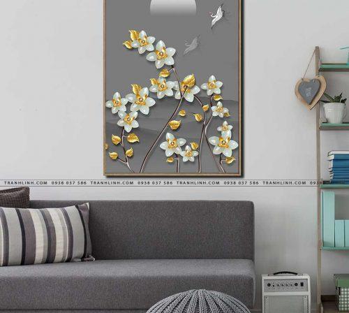 tranh canvas hoa 584