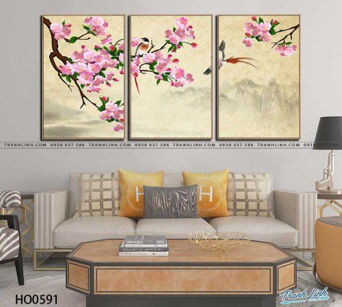 tranh canvas hoa 591