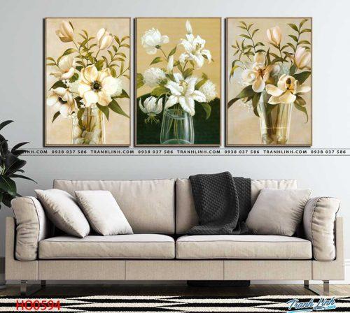 tranh canvas hoa 594
