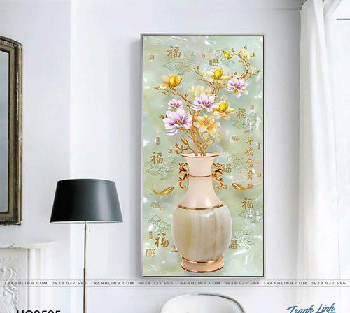 tranh canvas hoa 595