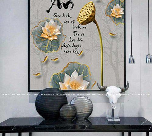 tranh canvas hoa 606