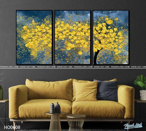 tranh canvas hoa 608