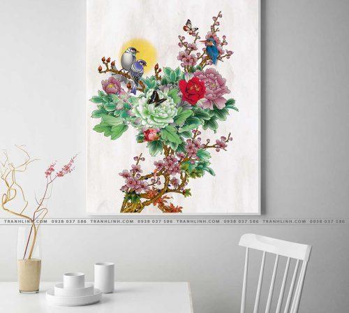tranh canvas hoa 612