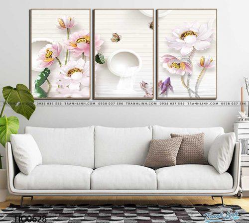 tranh canvas hoa 628