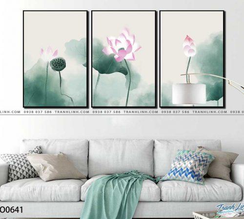 tranh canvas hoa 641