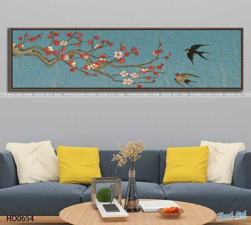tranh canvas hoa 654