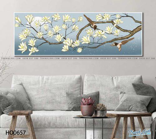 tranh canvas hoa 657