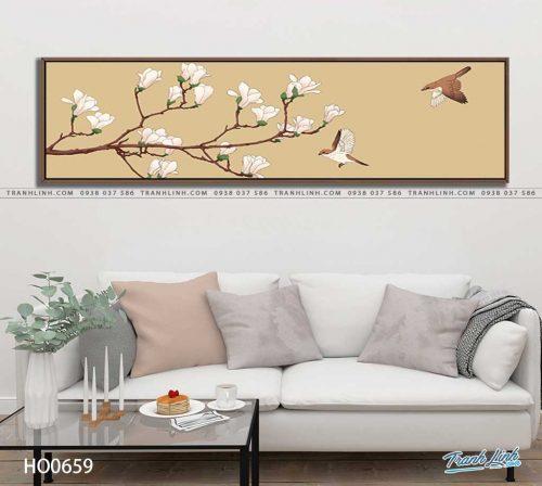 tranh canvas hoa 659
