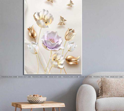 tranh canvas hoa 669