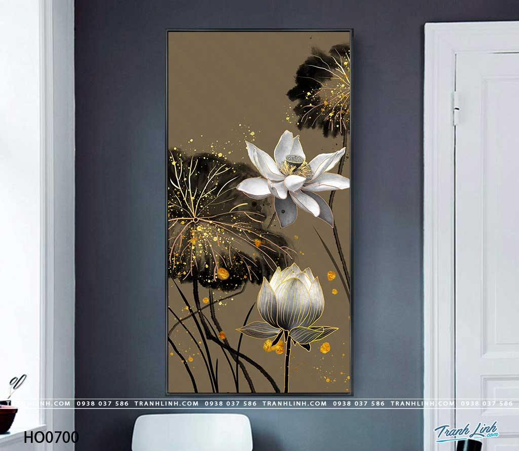 tranh canvas hoa 700