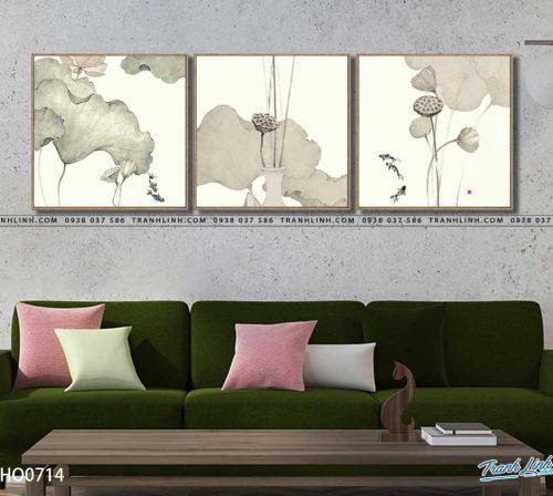tranh canvas hoa 714